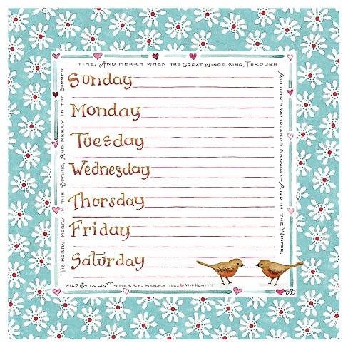 "Susan Branch Weekly Non-Dated Adhesive Desk Pad, (7.75"" x 7.75"") - image 1 of 3"