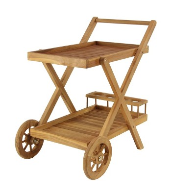 Trolley Patio Outdoor Serving Cart - Olivia & May