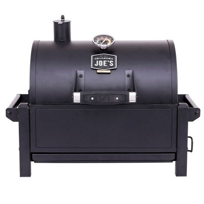 Oklahoma Joe's 19402088 Rambler Heavy Duty 218 Square Inch Cooking Area Portable Tabletop Steel Charcoal Grill with Cast Iron Grates and Carry Handles