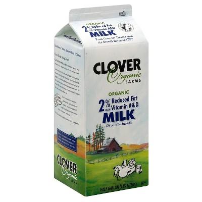 Clover Organic Farms 2% Milk - 0.5gal