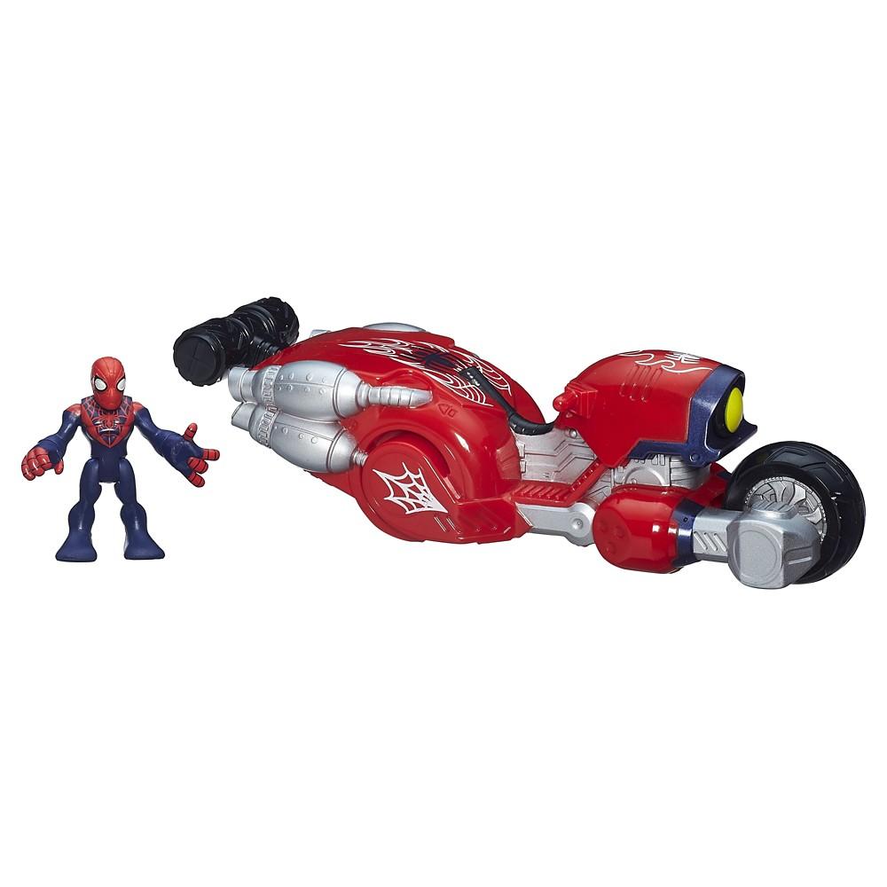 Playskool Heroes Marvel Super Hero Adventures Web-Wheelin' Bike with Ultimate Spider-Man