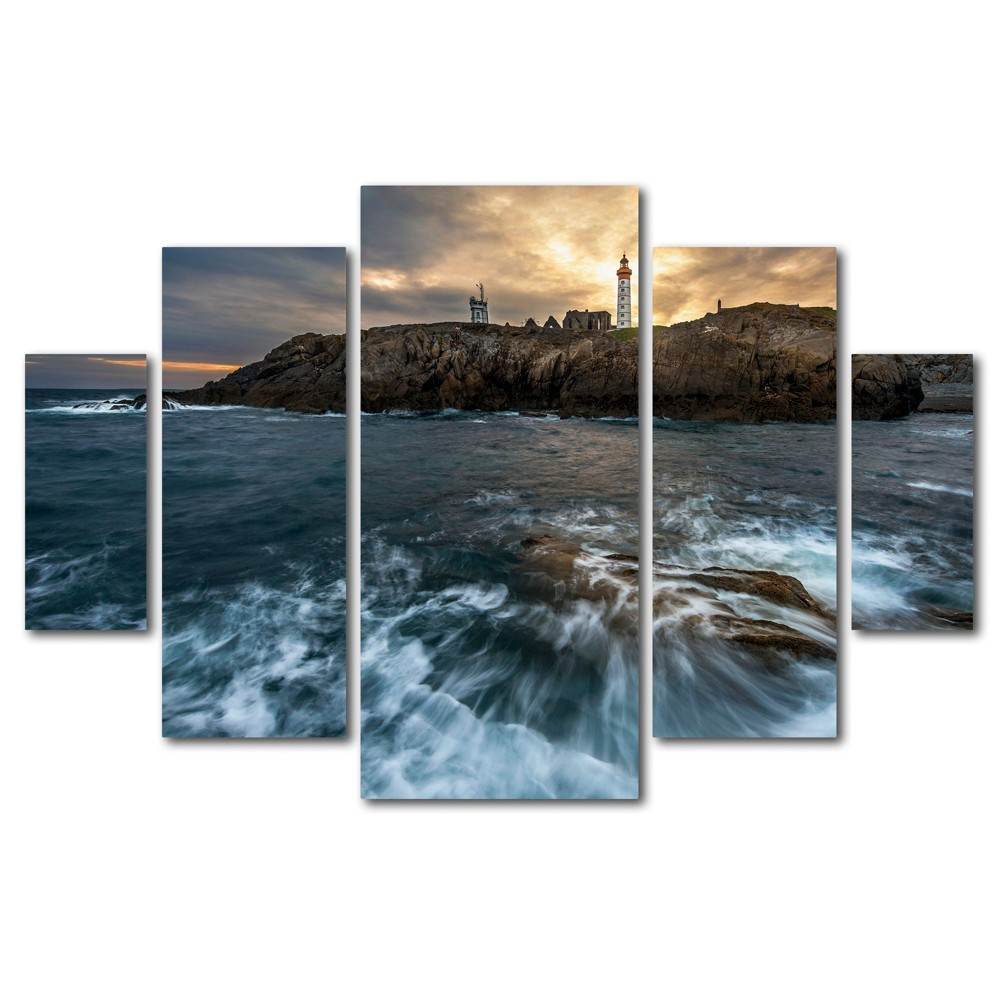 'The Lighthouse' by Mathieu Rivrin Ready to Hang Multi Panel Art Set, Multi-Colored