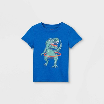 Toddler Boys' T-Rex Hula Hoop Graphic Short Sleeve T-Shirt - Cat & Jack™ Blue