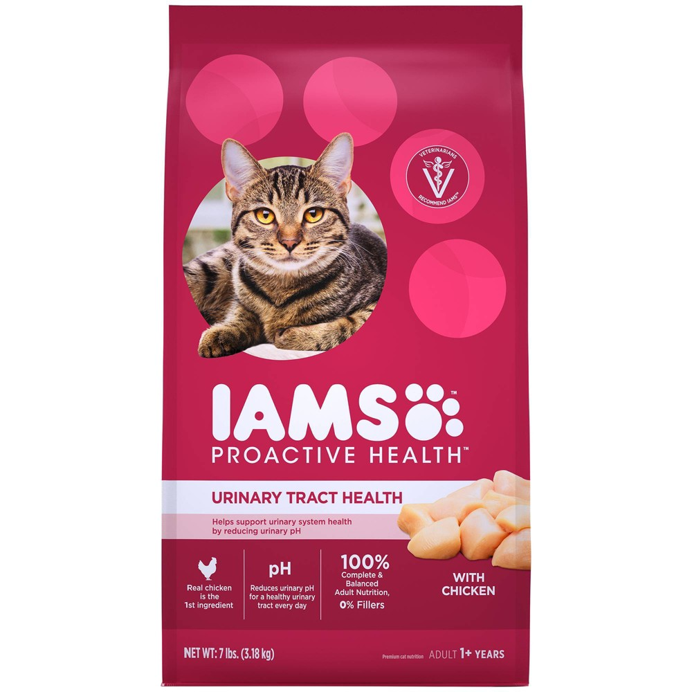 Iams Proactive Health Urinary Tract Health With Chicken Adult Premium Dry Cat Food 7lbs