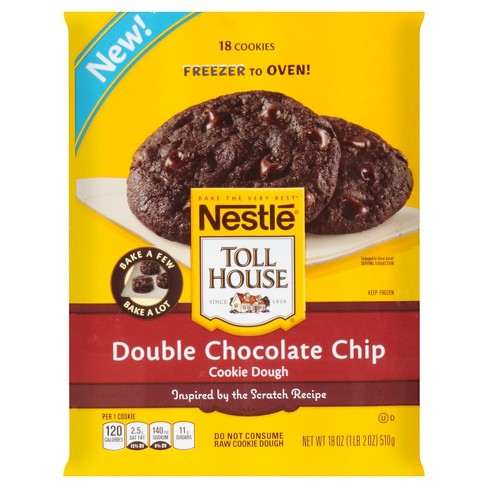 Toll House Double Chocolate Chip Frozen Cookie Dough 18 oz - image 1 of 3