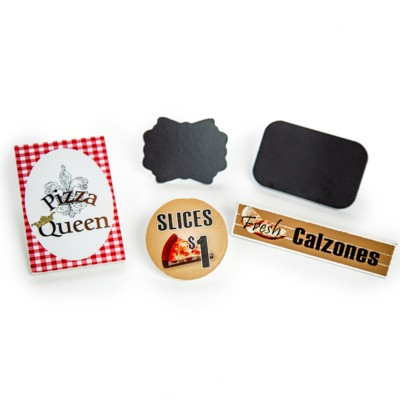 The Queen's Treasures 18 Inch Doll 5pc Pizza Queen Shop Signs Accessory