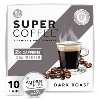 KITU Super Dark Roast Coffee - Single Serve Pods - 10ct