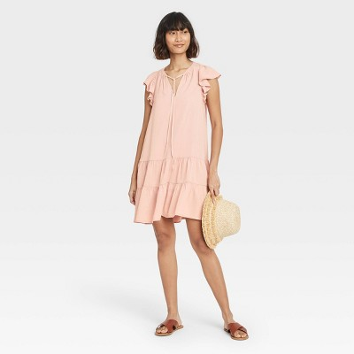 Women's Flutter Short Sleeve Ruffle Dress - Knox Rose™