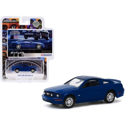 """2009 Ford Mustang GT Dark Blue BFGoodrich Vintage Ad Cars """"Hobby Exclusive"""" 1/64 Diecast Model Car by Greenlight"""