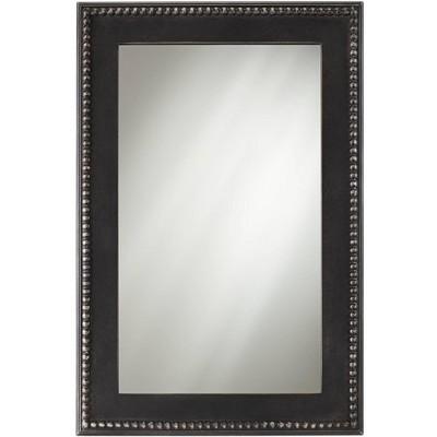 "Noble Park Corson Black Beaded 24"" x 36"" Rectangular Wall Mirror"