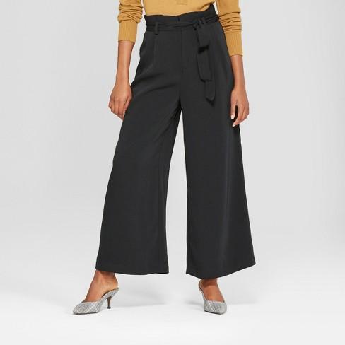 b7a9fb9a99 Women's Wide Leg Paperbag Pants - Who What Wear™ Black XL : Target