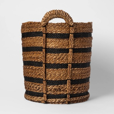 Tall Striped Basket Black/Natural - Threshold™