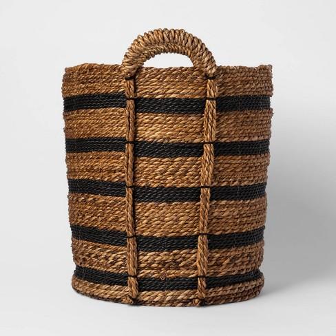 Tall Striped Basket Black/Natural - Threshold™ - image 1 of 3