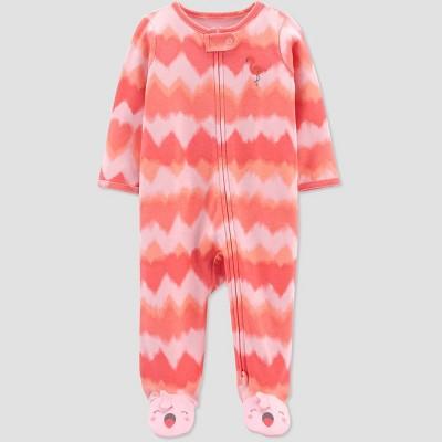 Baby Girls' Flamingo Tie-Dye Sleep N' Play - Just One You® made by carter's Orange/Pink