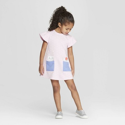 view Toddler Girls' 'Bunny' A Line Dress - Cat & Jack Pink on target.com. Opens in a new tab.