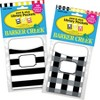 Barker Creek 60pc 2 Designs Buffalo Plaid and Wide Stripes Library Pocket Set - image 3 of 4