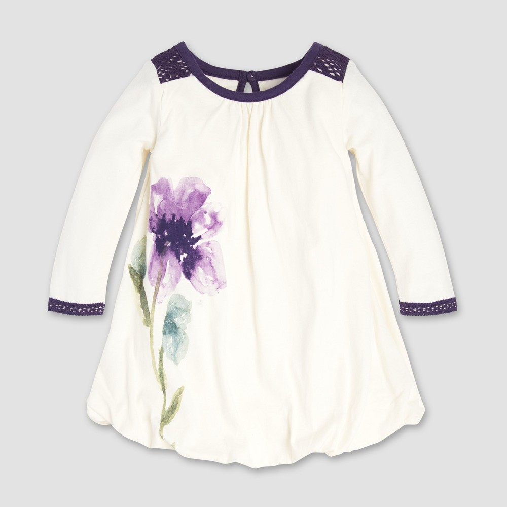 Burt's Bees Baby Baby Girls' Daylily Bubble Dress - Eggshell 18M, Beige