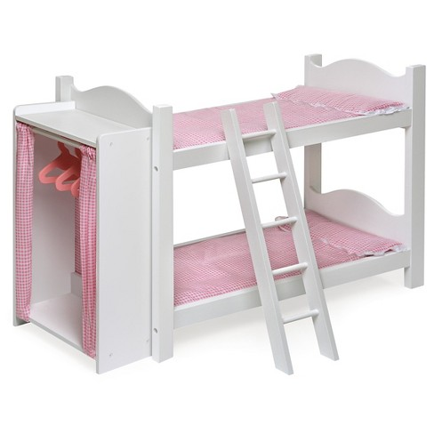 Badger Basket Doll Bunk Beds with Ladder and Storage Armoire - image 1 of 2