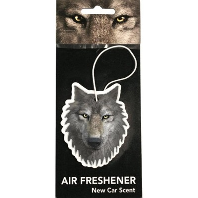 Just Funky Wolf New Car Scent Hanging Air Freshener