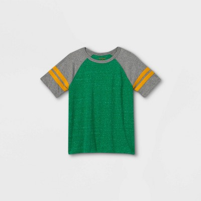 Boys' Short Sleeve Baseball T-Shirt - Cat & Jack™ Green/Gray
