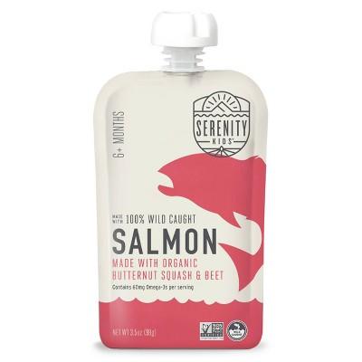 Serenity Kids Wild Caught Salmon with Organic Butternut Squash & Beet Baby Meals - 3.5oz