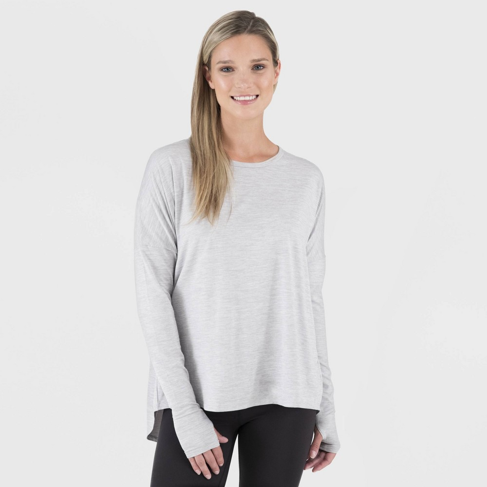 Image of Wander by Hottotties Women's Charlotte Drop Shoulder Thermoregulation Tunic - Heather Gray L, Size: Large, Grey Grey