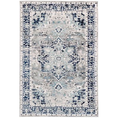 5'X8' Jacquard Woven Area Rug Gray - Liora Manne