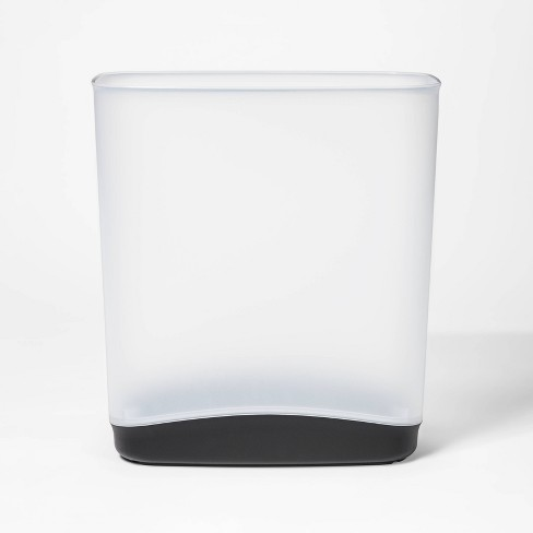 3.3gal Vanity Trash Can White With Color Accented Base - Room Essentials™ - image 1 of 4