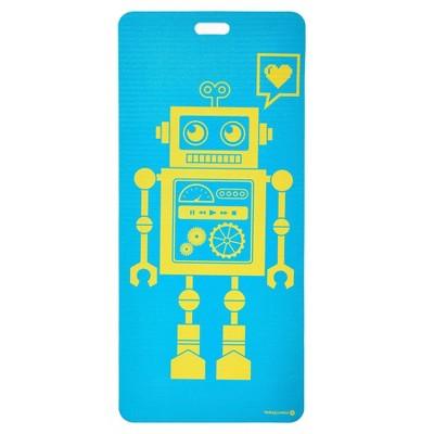 Merrithew Pixel the Robot Kids' Eco Yoga Mat - Aqua (4mm)