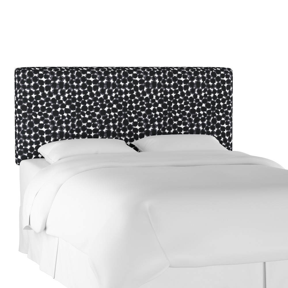 Upholstered Headboard Queen Abstract Dot Black - Project 62