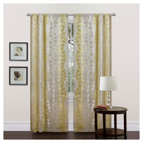 "Teardrops Window Curtain Panel Pair Green (84""x38"") - Lush Décor - image 1 of 1"