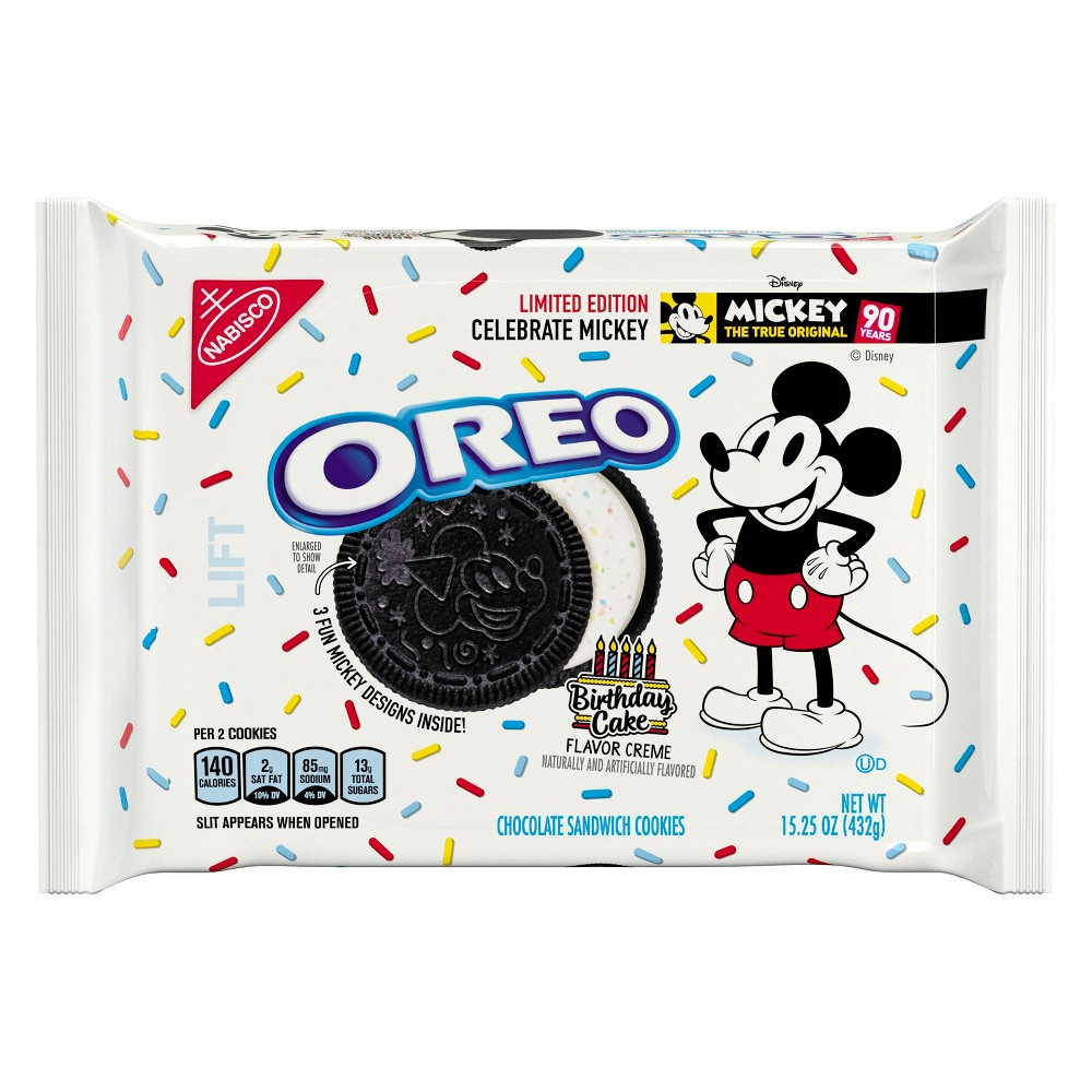 Oreo Mickey Mouse Limited Edition Chocolate Sandwich Cookies - 15.25oz