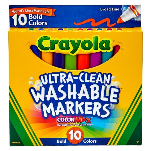 Crayola® Ultra-Clean Markers Broad Line Washable 10ct Bold - image 1 of 2