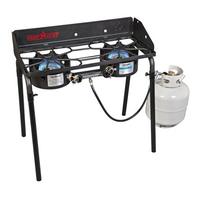 Camp Chef 2-Explorer Burner Stove with Detachable Legs - Black