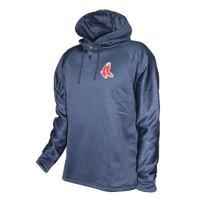 MLB Boston Red Sox Men's Hooded Henley Pullover