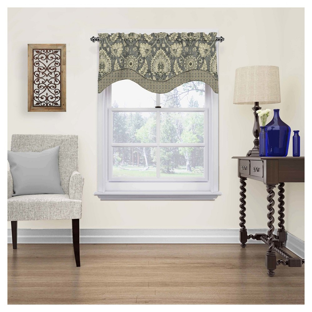 """Image of """"18""""""""x52"""""""" Clifton Hall Scalloped Floral Window Valance Fla - Waverly"""""""