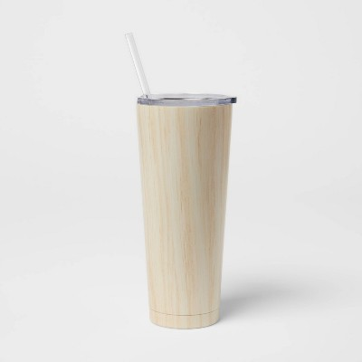 25oz Stainless Steel Vacuum Tumbler with Straw and Slide Lid - Room Essentials™