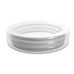 Intex Round 7.5ft x 20in Inflatable Family Fun Kids Swimming Center Pool, White