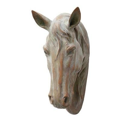 "Horse Head Wall Sculpture (17.25"") Brown - 3R Studios"