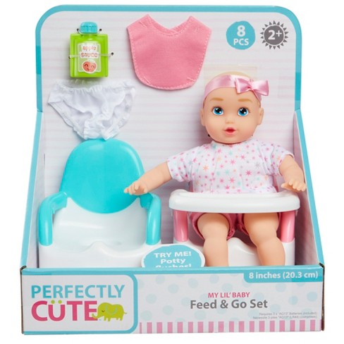 Perfectly Cute My Lil Baby Feed Go 8 Baby Doll Target