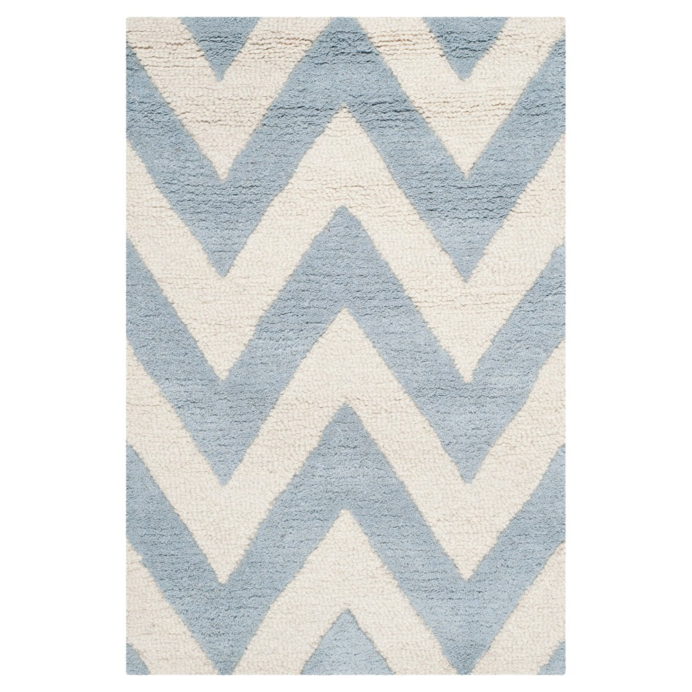 Dalton Textured Rug - Light Blue / Ivory (2' X 3') - Safavieh, Light Blue/Ivory