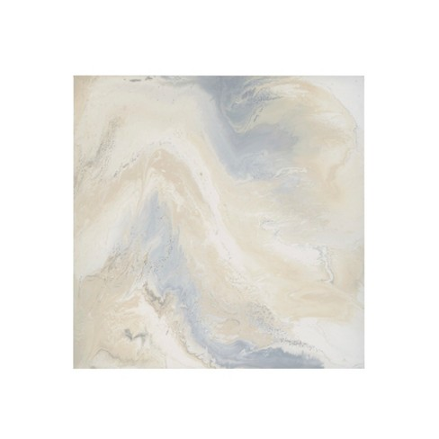 Marble Mist Glass Coat Taupe Unframed Wall Canvas Gray - image 1 of 5