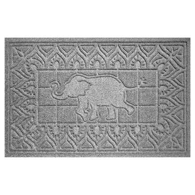 Medium Gray Animals Pressed Doormat - (2'X3')- Bungalow Flooring