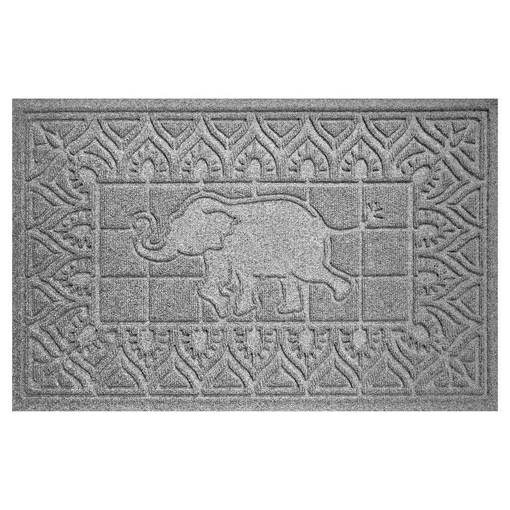 Image of Medium Gray Animals Pressed Doormat - (2'X3') - Bungalow Flooring