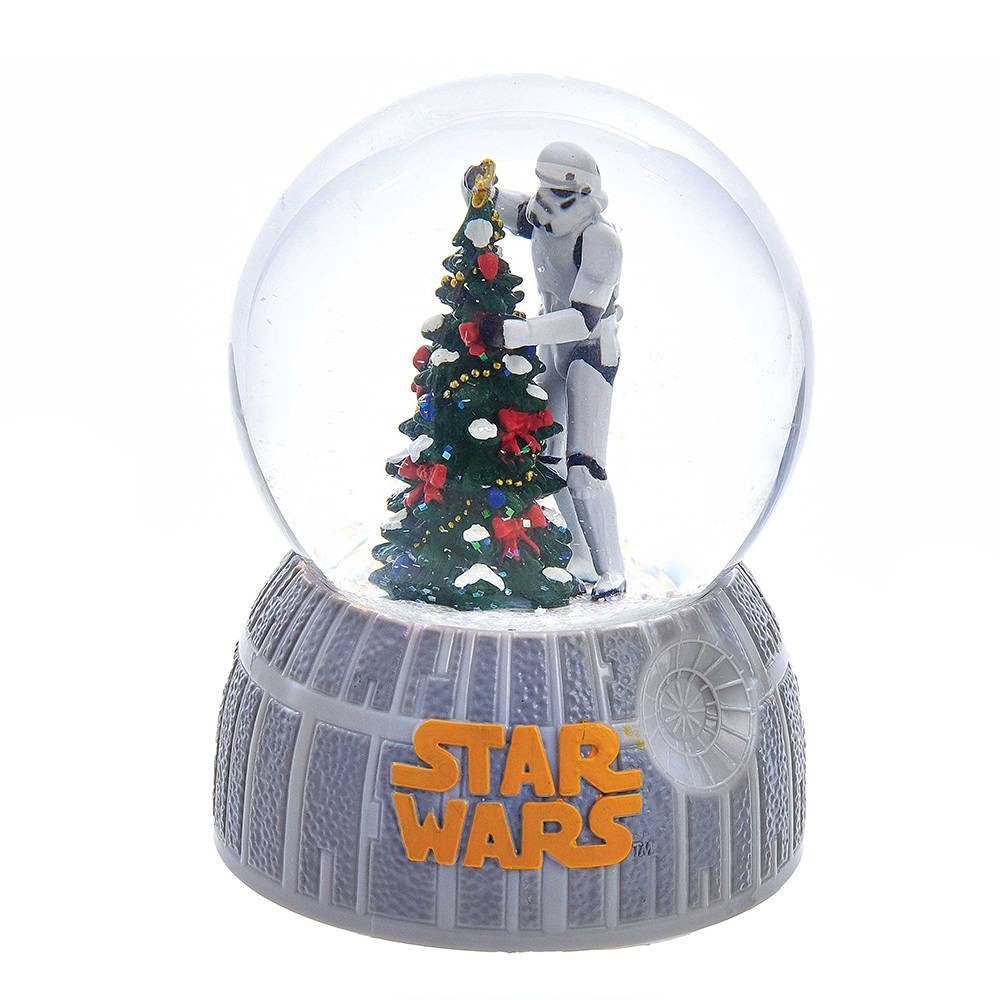 Image of 100mm Kurt Adler Musical Stormtrooper Decorating Christmas Tree Water globe