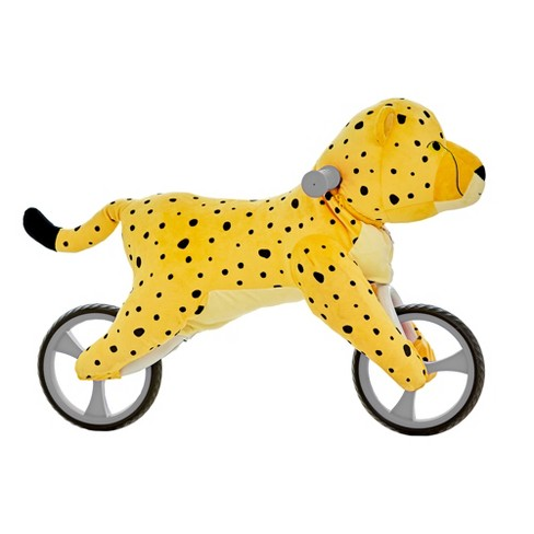 Asweets Kid's Animal Plush Toddler 20.5 Inch Tall Adjustable Training Balance Bike Ride On Toy, Ages 2 Years Old to 5 Years Old, Cheetah - image 1 of 4