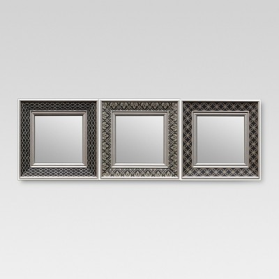 Square Mirror Set of 3 Black Tonal - Threshold™
