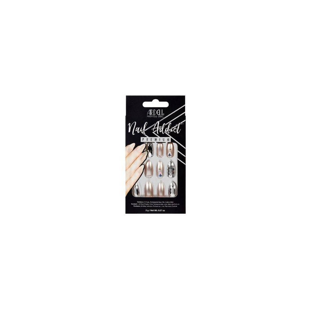 Image of Ardell Nail Addict False Nails Champagne Ice - 24ct