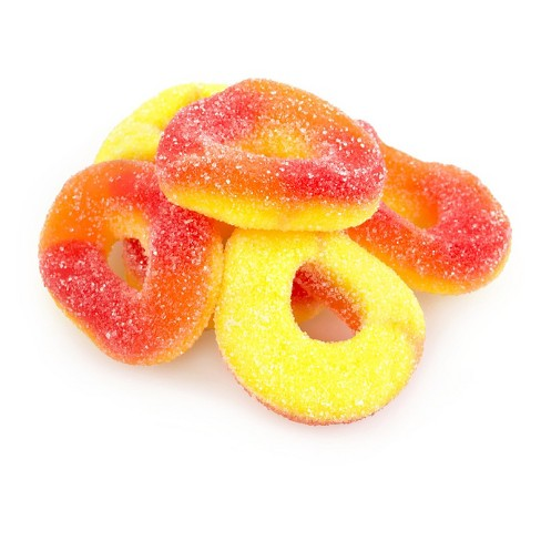 Albanese Peach Gummi Rings - 4.5lbs - image 1 of 1