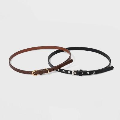 Women's Harness Belt with Metal Grommet - A New Day™ Cognac